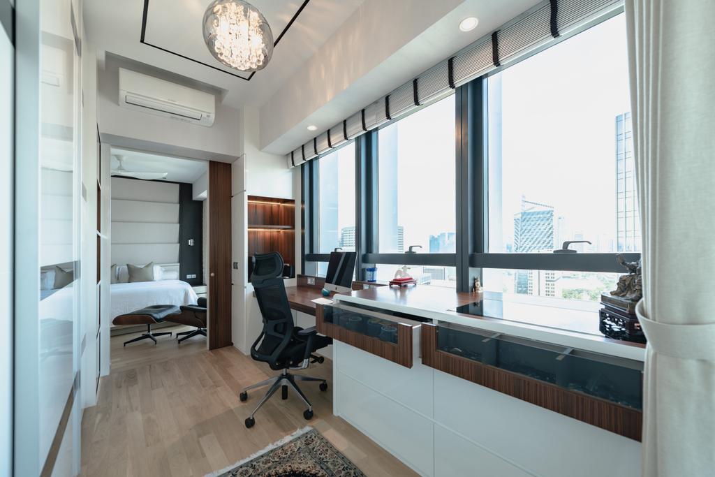 Contemporary, Condo, Study, Duo Residences, Interior Designer, The Orange Cube
