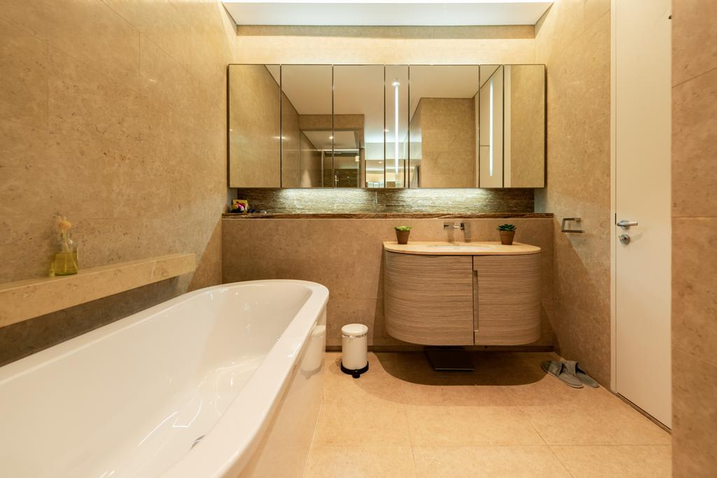 Contemporary, Condo, Bathroom, Duo Residences, Interior Designer, The Orange Cube, Bath Tub, Bathtub