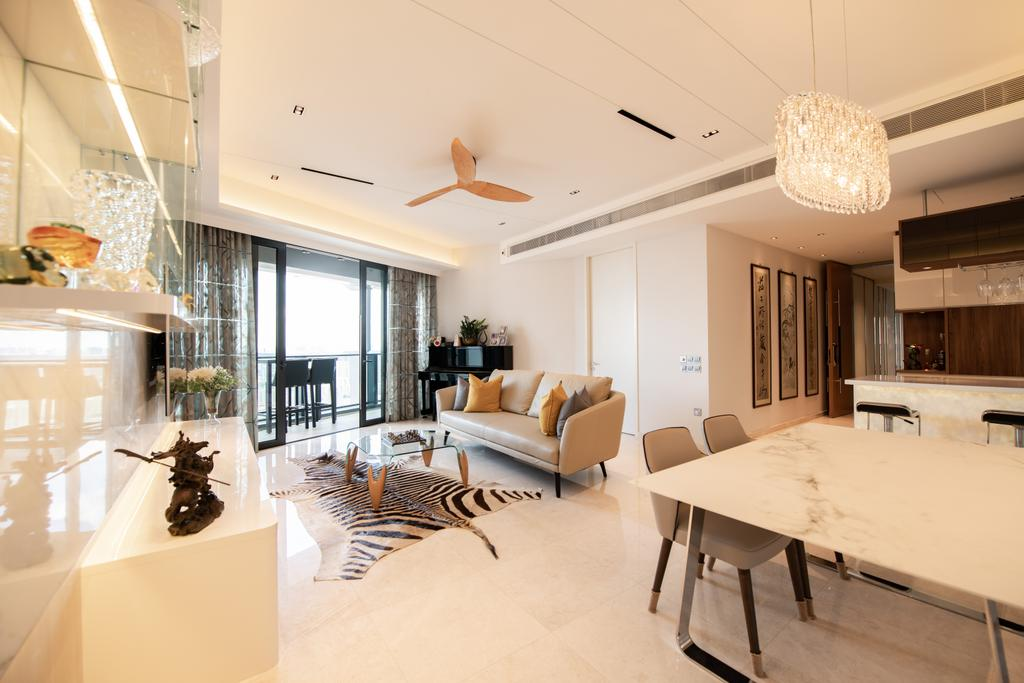 Contemporary, Condo, Dining Room, Duo Residences, Interior Designer, The Orange Cube