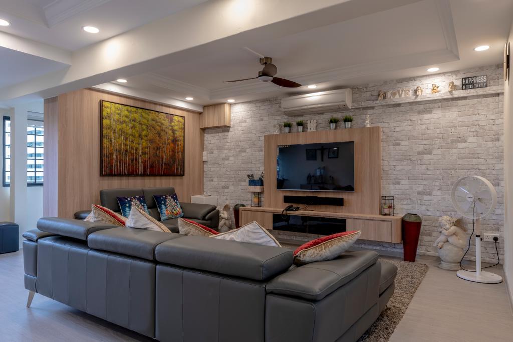 Contemporary, HDB, Living Room, Yishun Street 61, Interior Designer, Colourbox Interior
