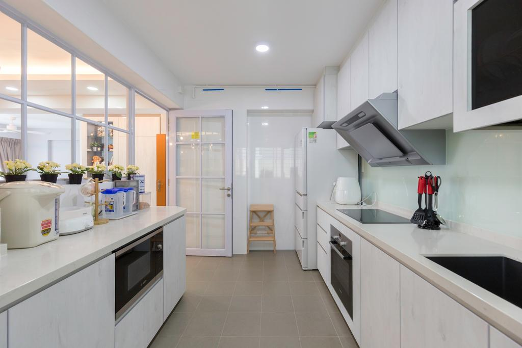Contemporary, HDB, Kitchen, Canberra Crescent, Interior Designer, D5 Studio Image