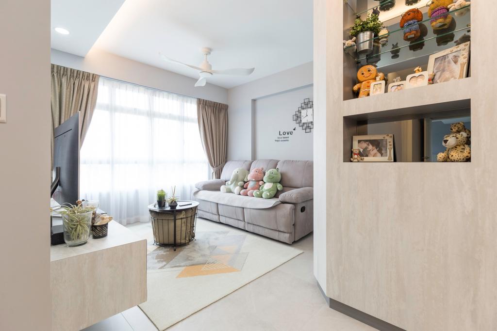 Contemporary, HDB, Living Room, Canberra Crescent, Interior Designer, D5 Studio Image