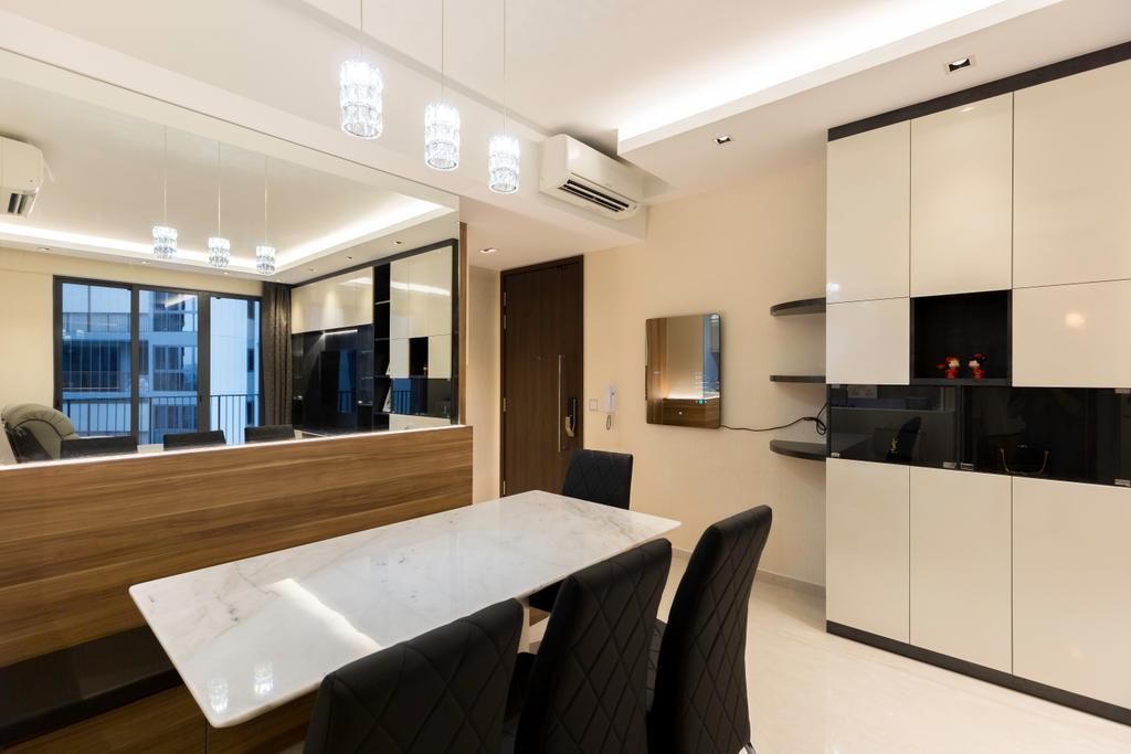 Contemporary, Condo, Living Room, Signature @ Yishun, Interior Designer, ECasa Studio