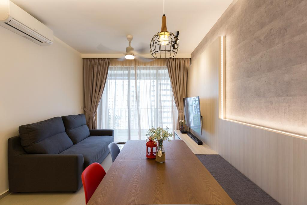 Contemporary, Condo, Living Room, Parc Life, Interior Designer, T&T Design Artisan