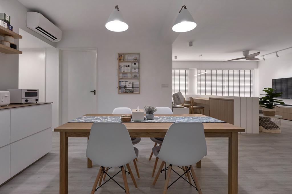 Scandinavian, HDB, Dining Room, Bukit Batok West Avenue 8, Interior Designer, Lemonfridge Studio