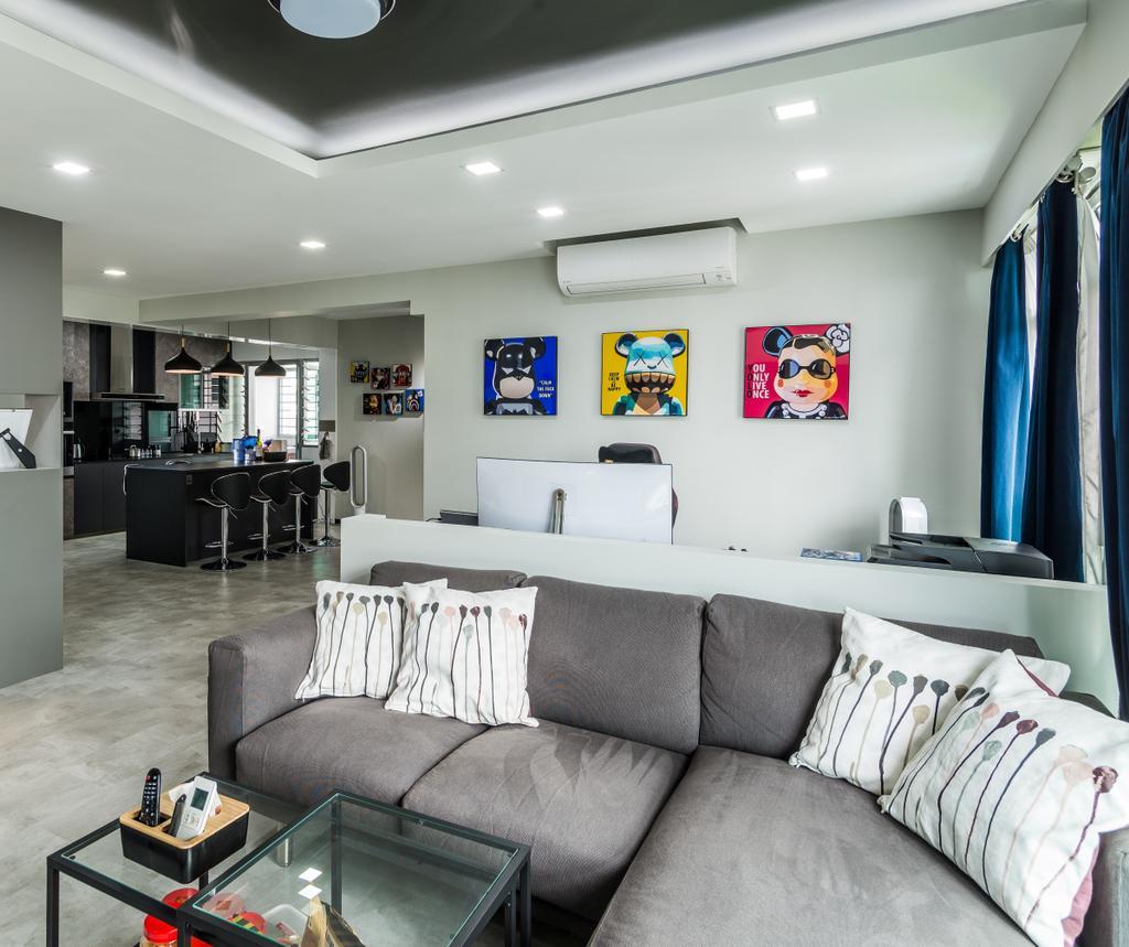 Contemporary, HDB, Living Room, Yung Kuang Road, Interior Designer, Aria Home