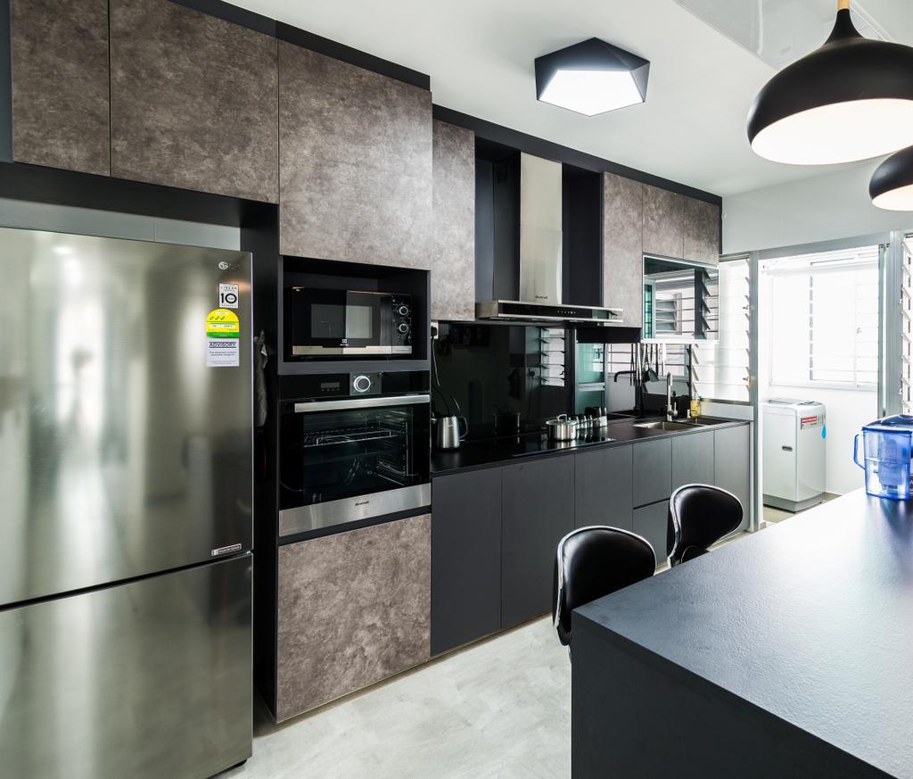 Contemporary, HDB, Kitchen, Yung Kuang Road, Interior Designer, Aria Home