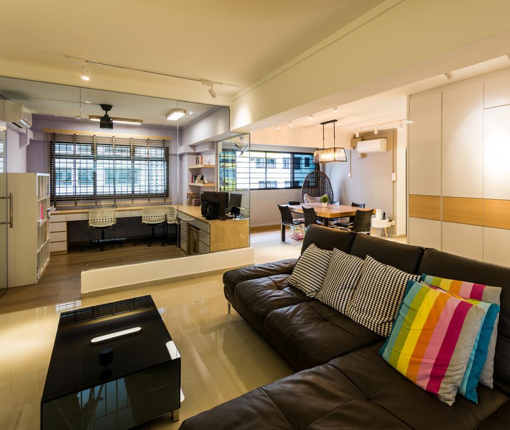 Contemporary, HDB, Living Room, Senja Road, Interior Designer, Aria Home