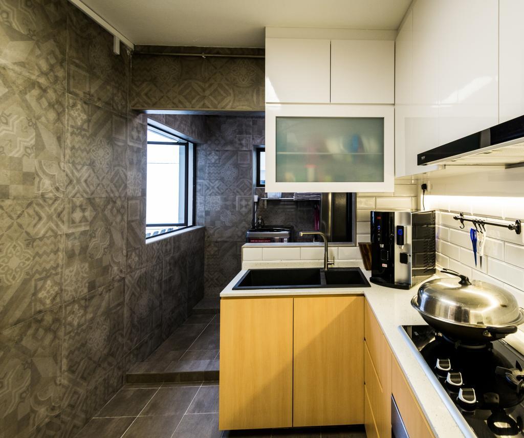 Contemporary, HDB, Kitchen, Senja Road, Interior Designer, Aria Home