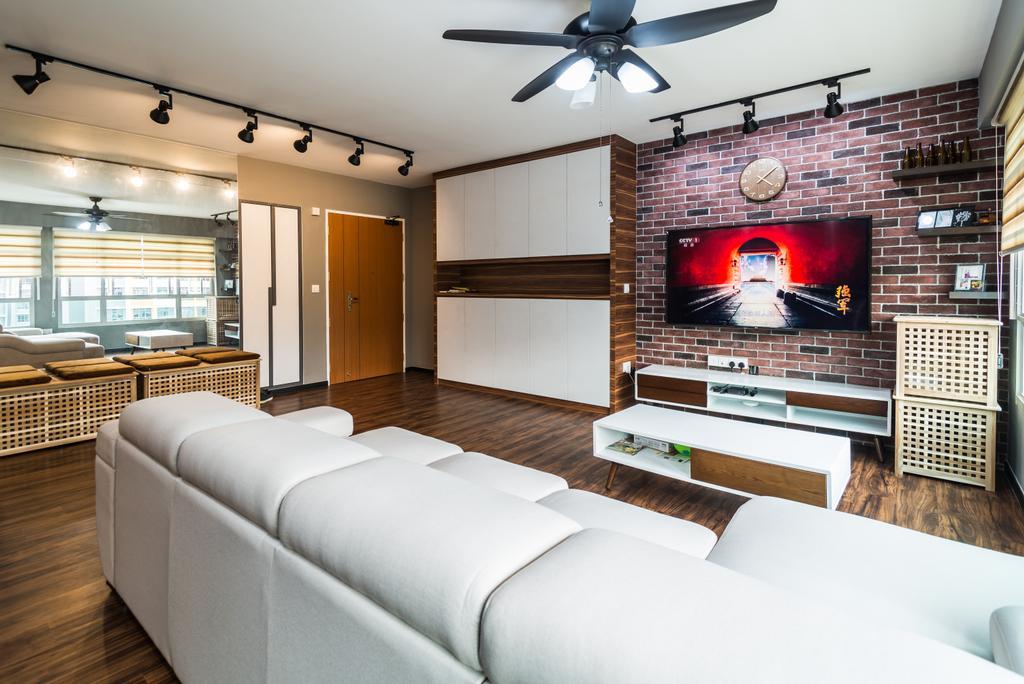 Contemporary, HDB, Living Room, Anchorvale Crescent, Interior Designer, Aria Home