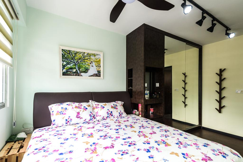 Contemporary, HDB, Bedroom, Anchorvale Crescent, Interior Designer, Aria Home