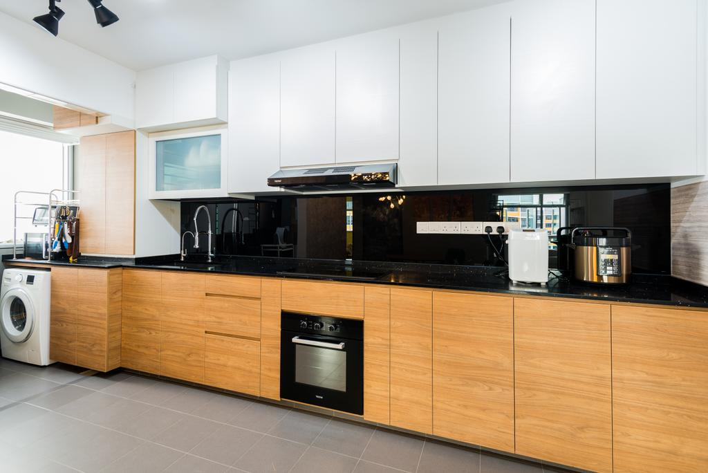 Contemporary, HDB, Kitchen, Anchorvale Crescent, Interior Designer, Aria Home