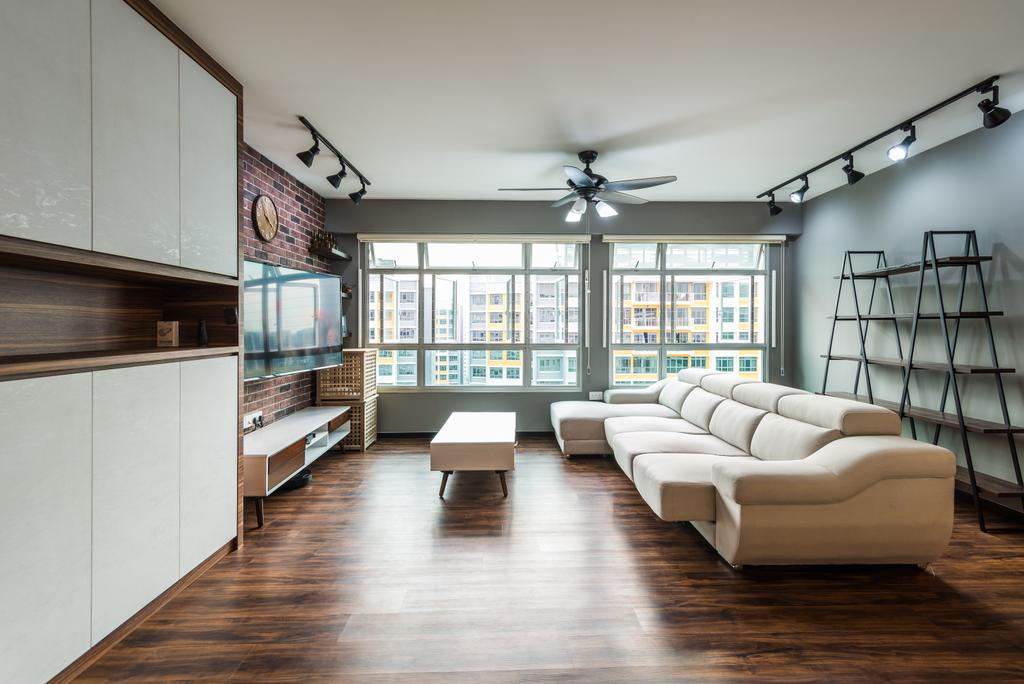 Contemporary, HDB, Living Room, Anchorvale Crescent, Interior Designer, Aria Home