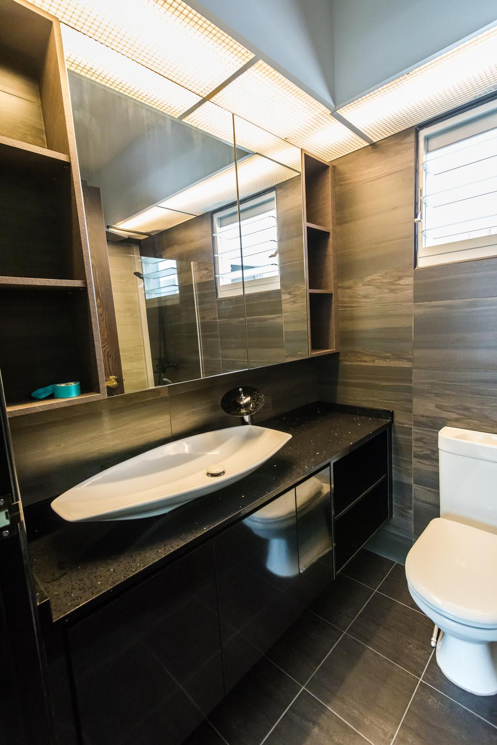 Contemporary, HDB, Bathroom, Anchorvale Crescent, Interior Designer, Aria Home