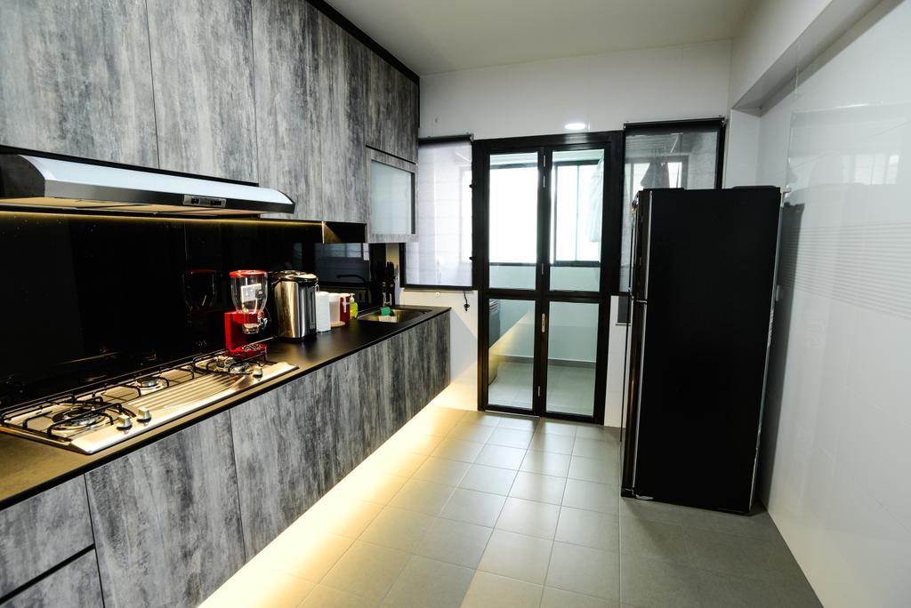 Contemporary, HDB, Kitchen, Yishun Avenue 4, Interior Designer, Aria Home