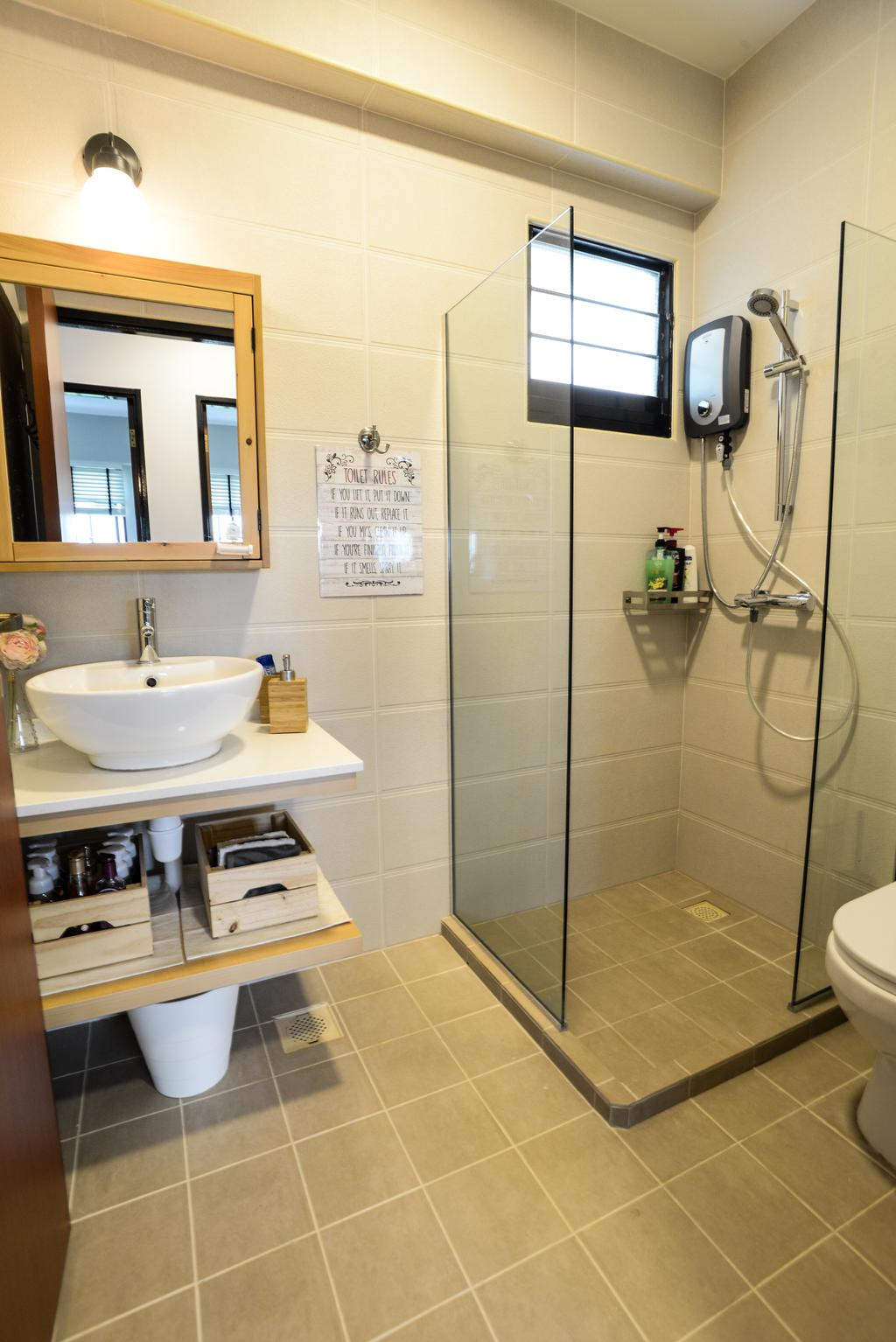 Contemporary, HDB, Bathroom, Yishun Avenue 4, Interior Designer, Aria Home