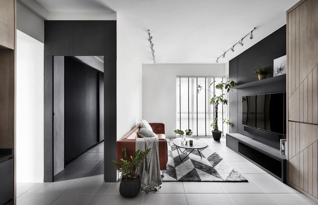 Contemporary, HDB, Living Room, Hougang Central, Interior Designer, Dan's Workshop
