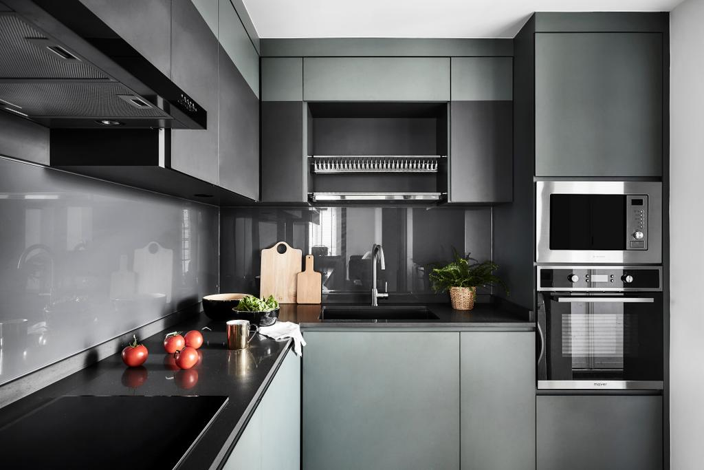 Contemporary, HDB, Kitchen, Hougang Central, Interior Designer, Dan's Workshop