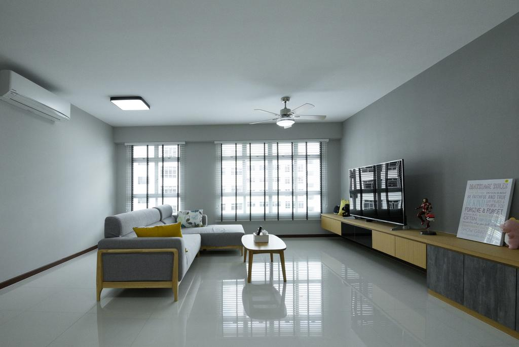 Contemporary, HDB, Living Room, Yishun Ring Road, Interior Designer, Charlotte's Carpentry