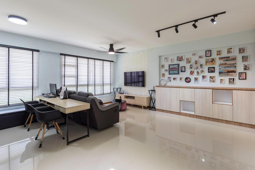 Contemporary, HDB, Punggol East, Interior Designer, VVID Elements