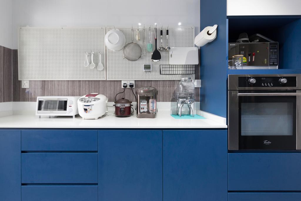 Contemporary, HDB, Kitchen, Punggol East, Interior Designer, VVID Elements