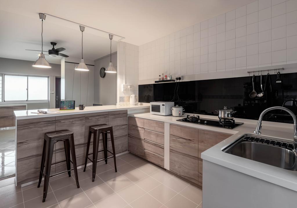 Contemporary, HDB, Kitchen, Pasir Ris Street 51, Interior Designer, Weiken.com