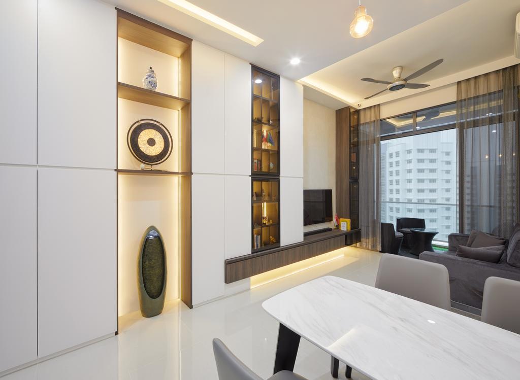 Contemporary, Condo, Living Room, Hillion Residences, Interior Designer, Absolook Interior Design