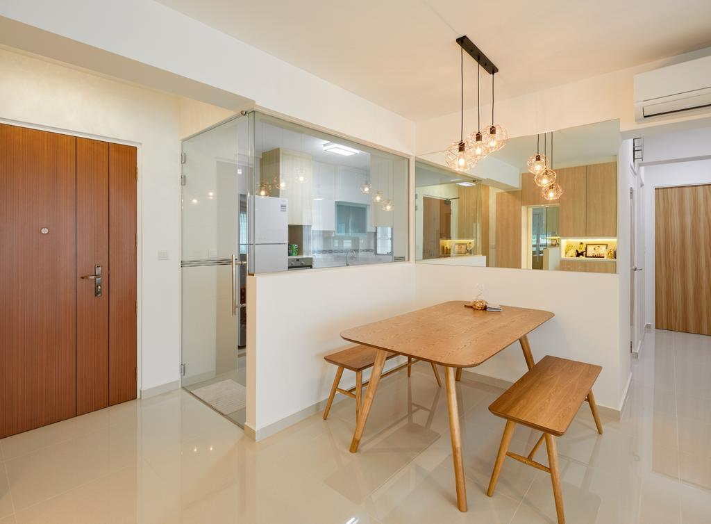Scandinavian, HDB, Dining Room, Telok Blangah Street 31, Interior Designer, Absolook Interior Design