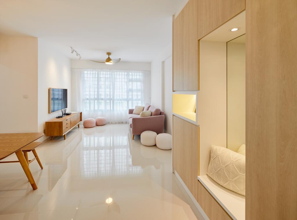 Scandinavian, HDB, Living Room, Telok Blangah Street 31, Interior Designer, Absolook Interior Design