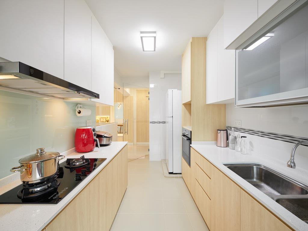 Scandinavian, HDB, Kitchen, Telok Blangah Street 31, Interior Designer, Absolook Interior Design