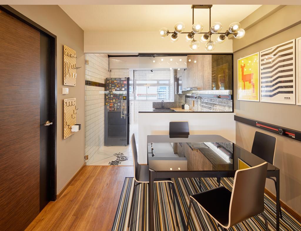 Contemporary, HDB, Dining Room, Tampines Street 11, Interior Designer, Absolook Interior Design