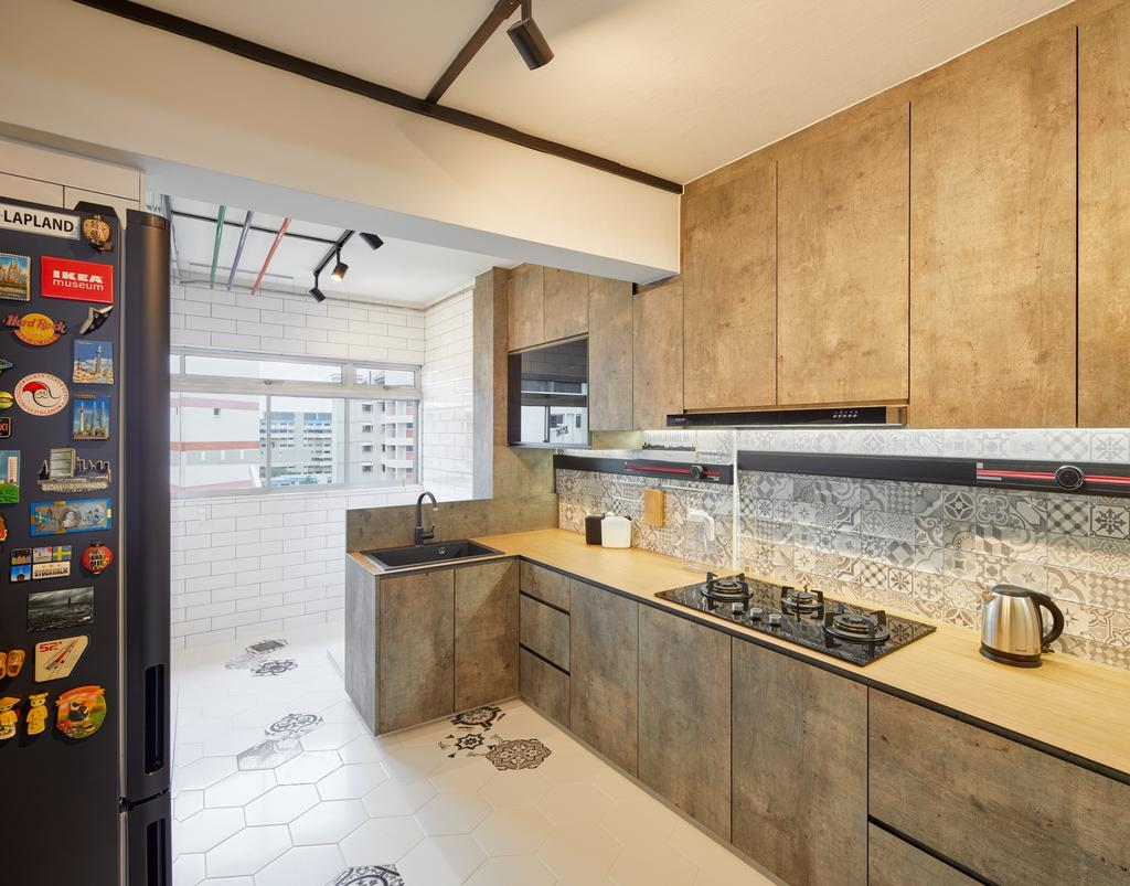 Contemporary, HDB, Kitchen, Tampines Street 11, Interior Designer, Absolook Interior Design