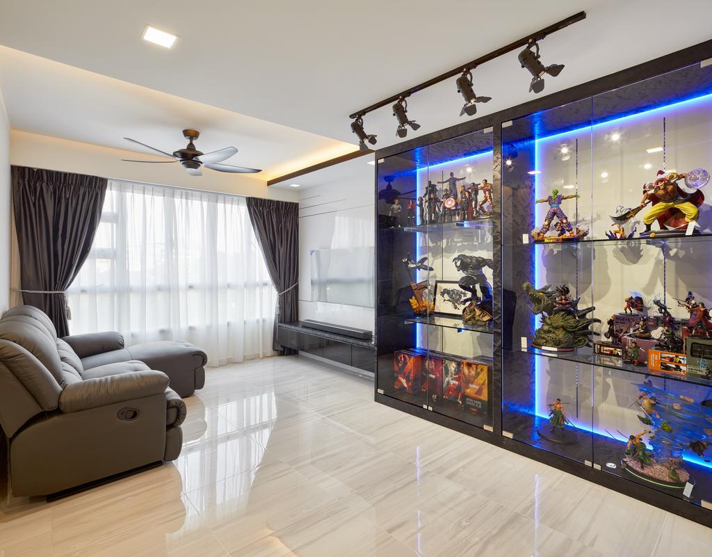HDB, Living Room, Depot Road (Block 110A), Interior Designer, Absolook Interior Design