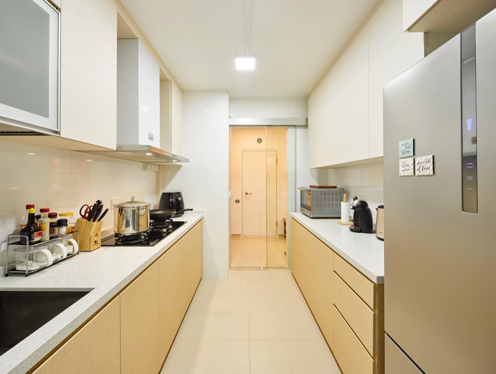 Contemporary, HDB, Kitchen, Edgedale Plains (Block 120A), Interior Designer, Absolook Interior Design