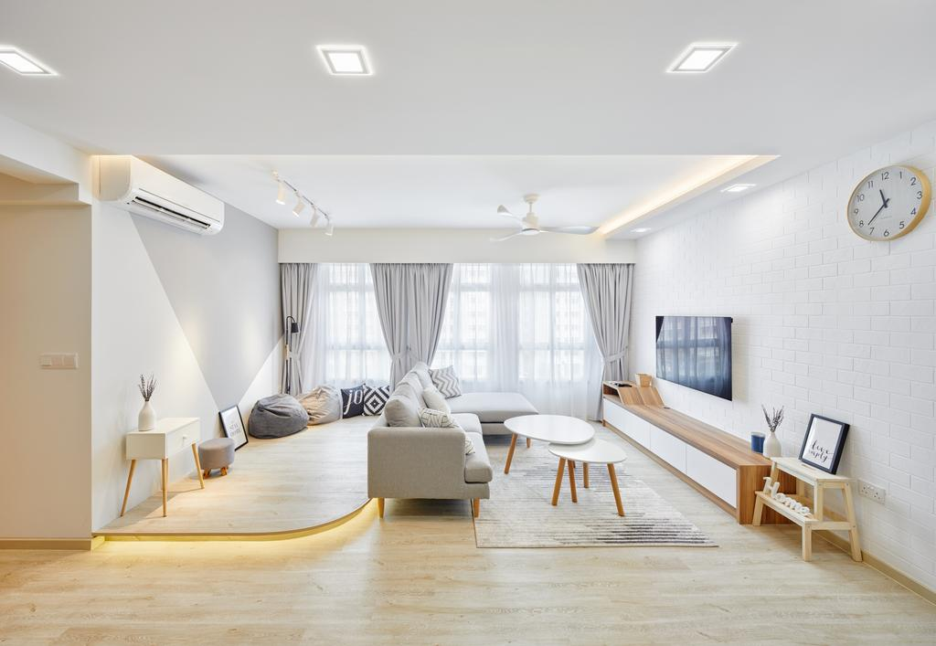 Contemporary, HDB, Living Room, Canberra Street (Block 129A), Interior Designer, Absolook Interior Design