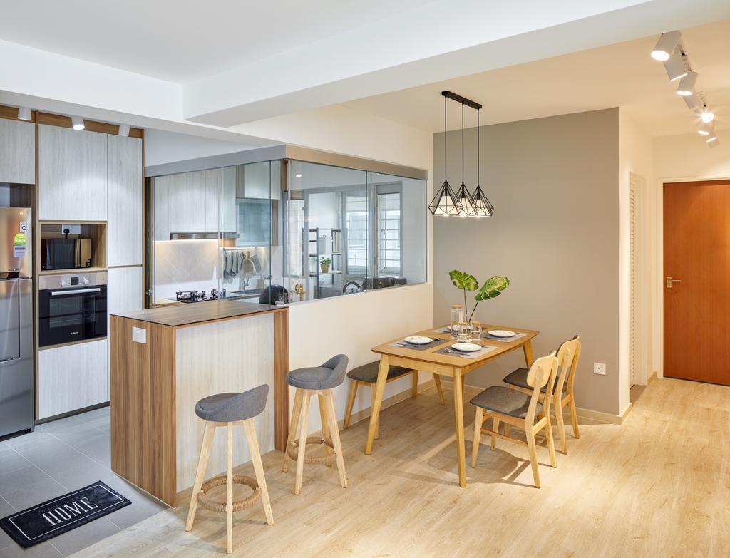 Contemporary, HDB, Dining Room, Canberra Street (Block 129A), Interior Designer, Absolook Interior Design