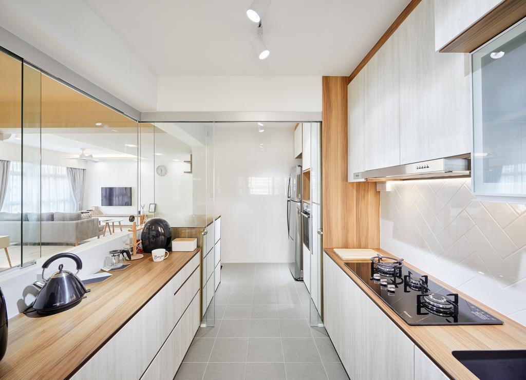 Contemporary, HDB, Kitchen, Canberra Street (Block 129A), Interior Designer, Absolook Interior Design