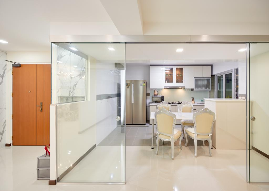 Modern, HDB, Kitchen, Yung Kuang Road, Interior Designer, Absolook Interior Design