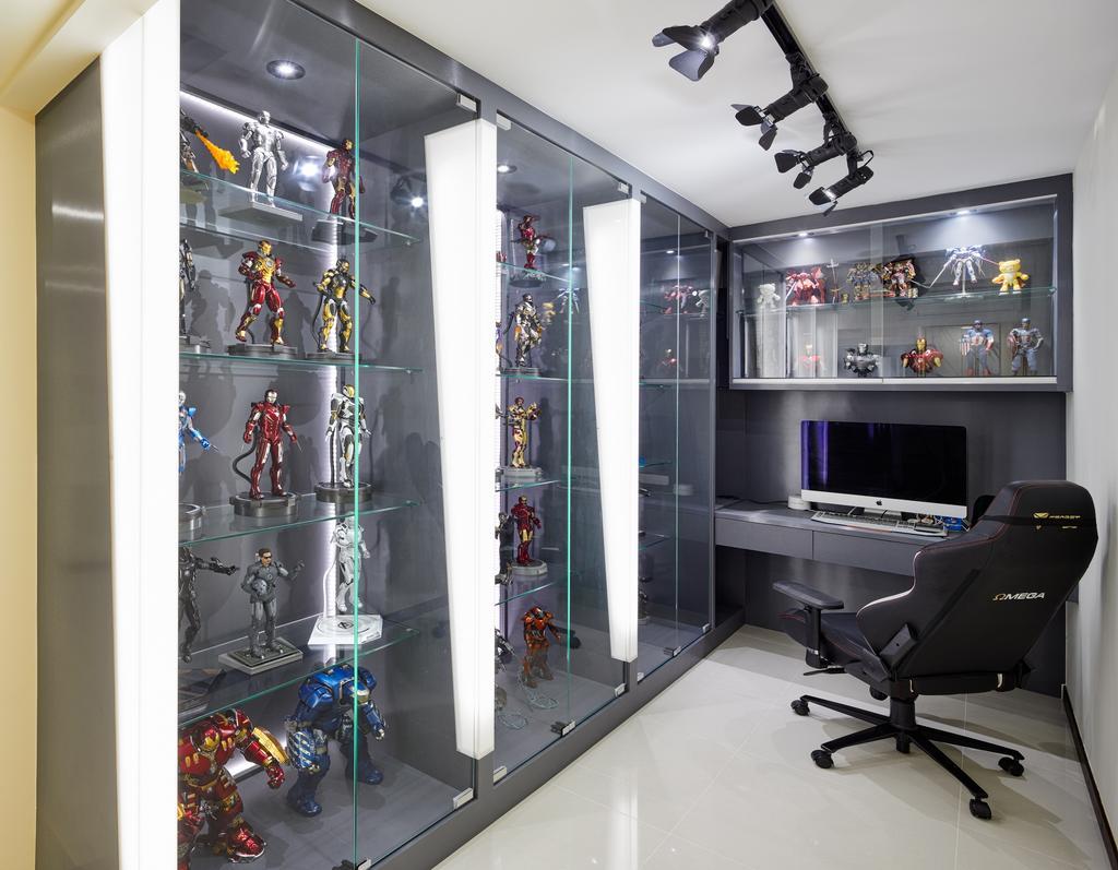 Modern, HDB, Study, Yung Kuang Road, Interior Designer, Absolook Interior Design