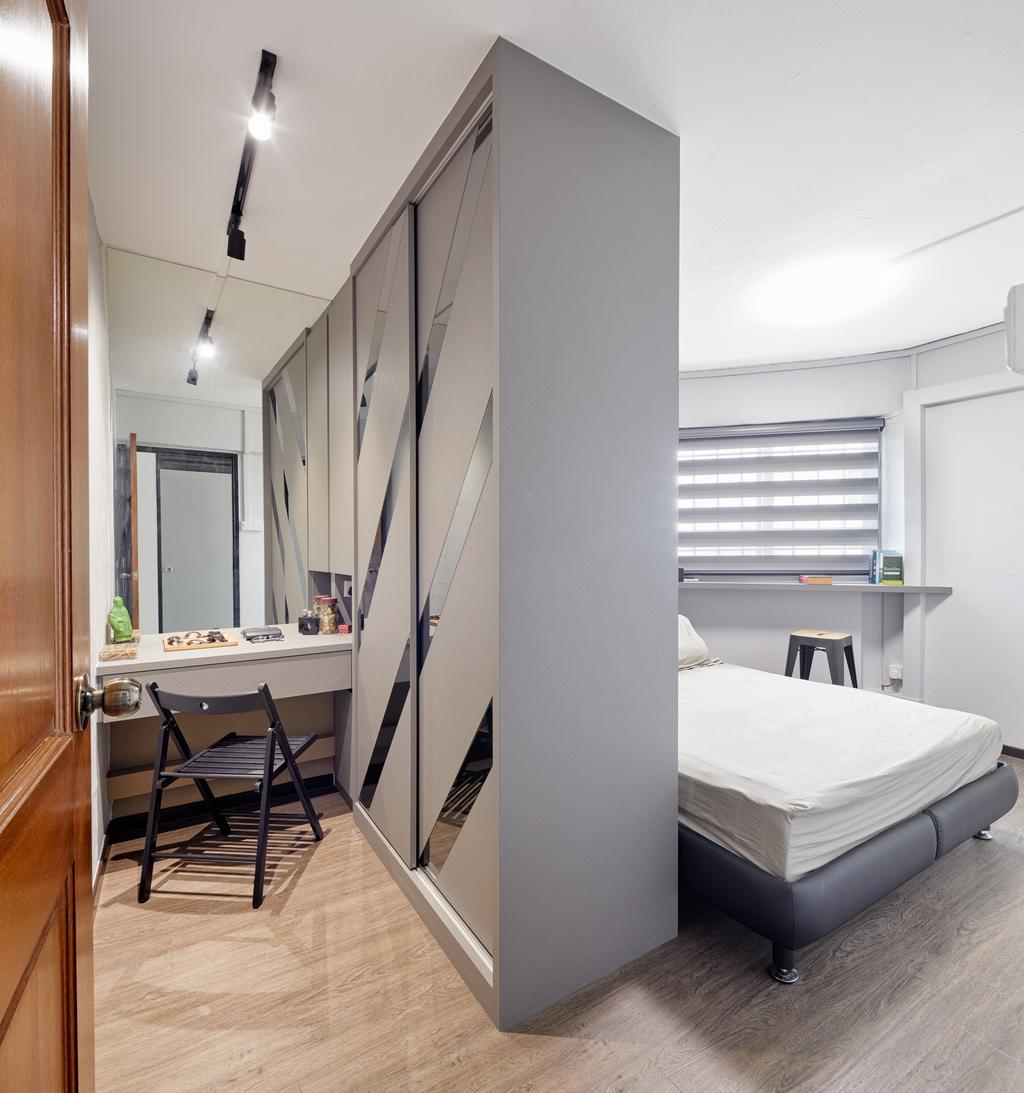 Contemporary, HDB, Bedroom, Serangoon Avenue, Interior Designer, Absolook Interior Design