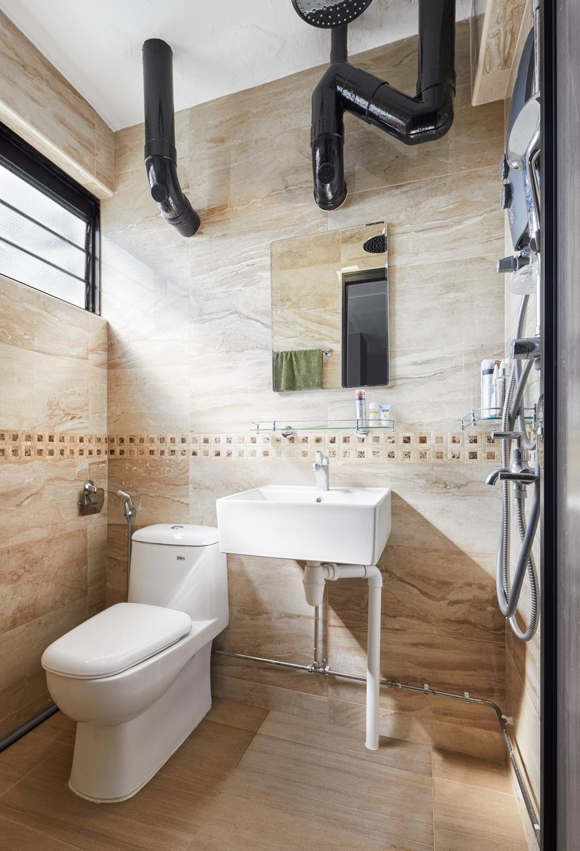 Contemporary, HDB, Bathroom, Serangoon Avenue, Interior Designer, Absolook Interior Design