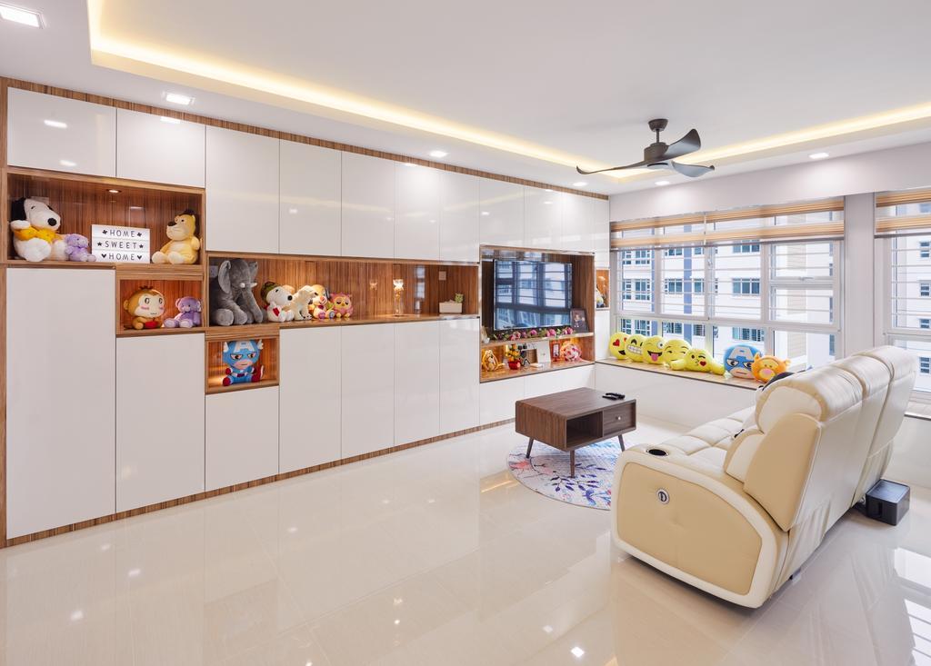 Contemporary, HDB, Living Room, Sumang Lane, Interior Designer, Absolook Interior Design