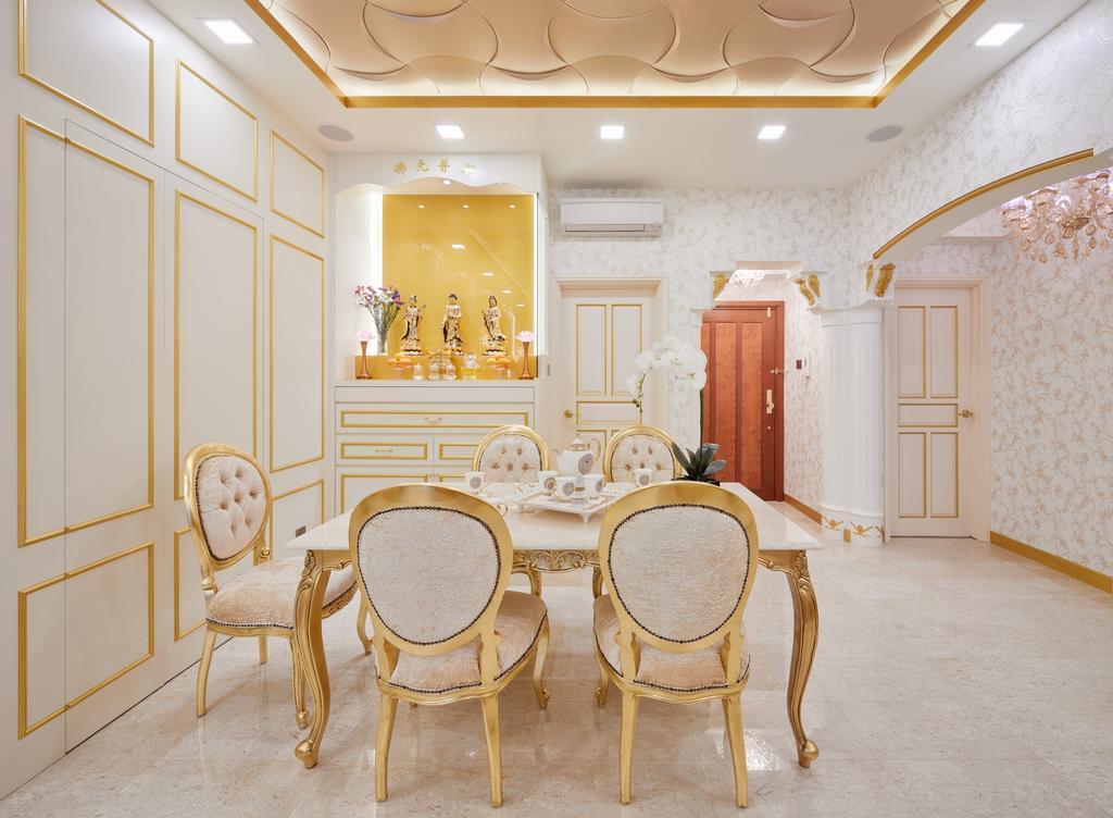 Contemporary, Condo, Dining Room, Aspen Heights, Interior Designer, Absolook Interior Design