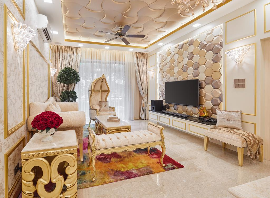 Contemporary, Condo, Living Room, Aspen Heights, Interior Designer, Absolook Interior Design