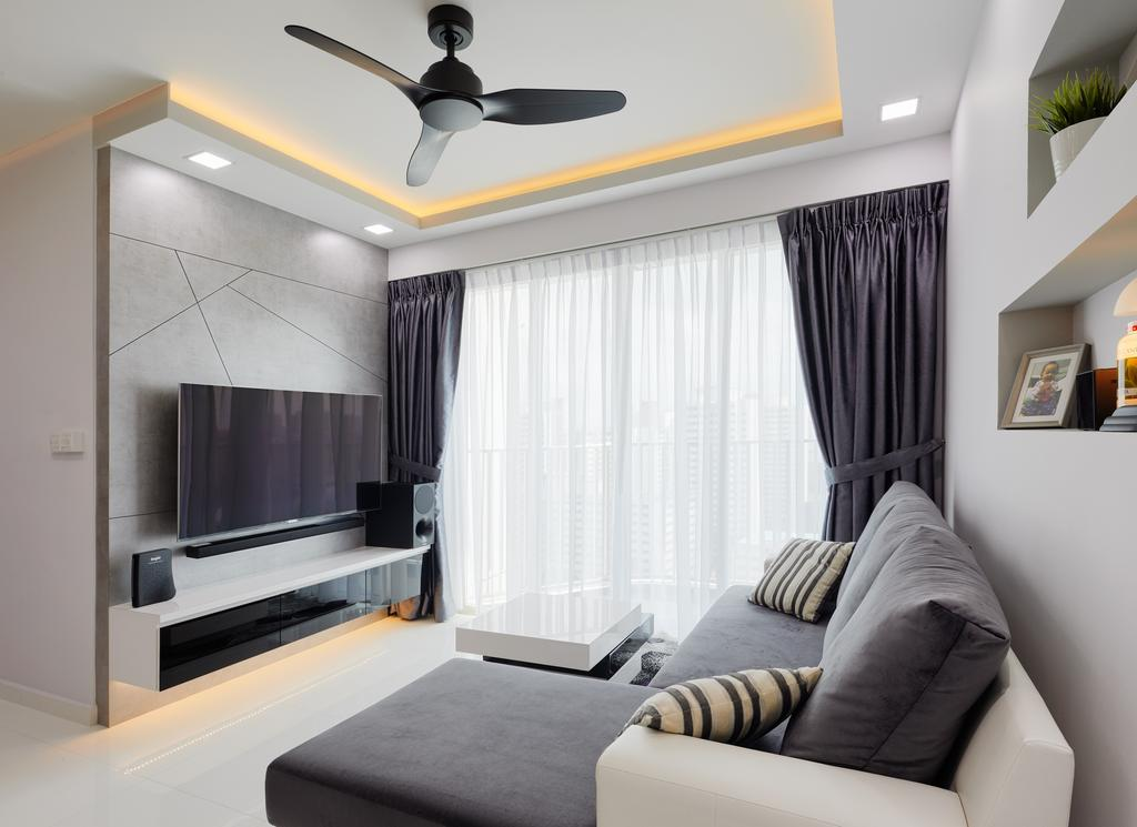 Contemporary, HDB, Living Room, Bukit Batok Street 22, Interior Designer, Absolook Interior Design