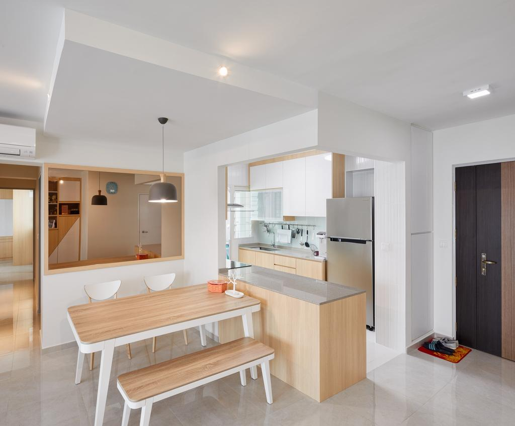 Contemporary, HDB, Dining Room, Bukit Batok Street 22 (Block 296A), Interior Designer, Absolook Interior Design