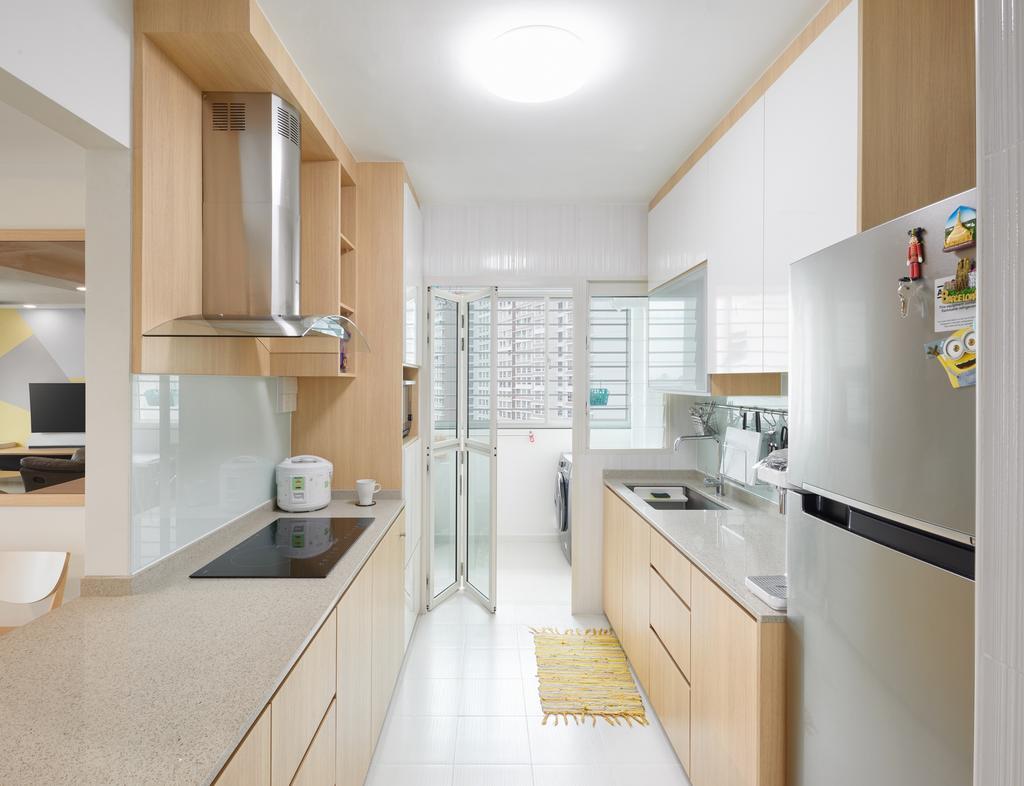 Contemporary, HDB, Kitchen, Bukit Batok Street 22 (Block 296A), Interior Designer, Absolook Interior Design