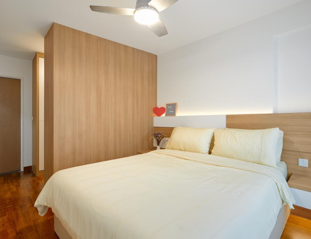 Contemporary, HDB, Bedroom, Punggol Way, Interior Designer, Absolook Interior Design