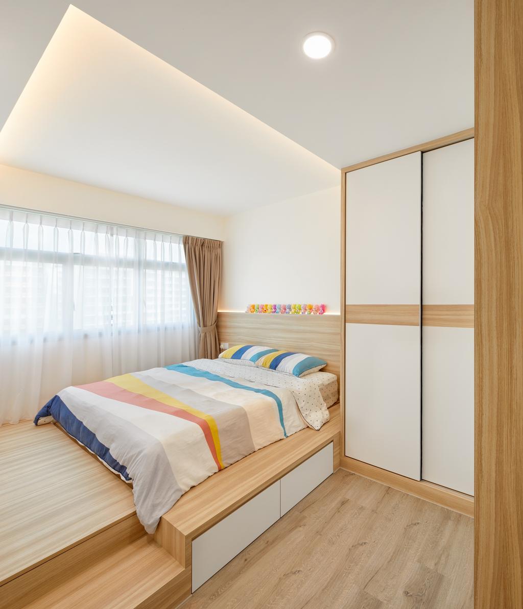 HDB, Bedroom, Anchorvale Parkview, Interior Designer, Absolook Interior Design