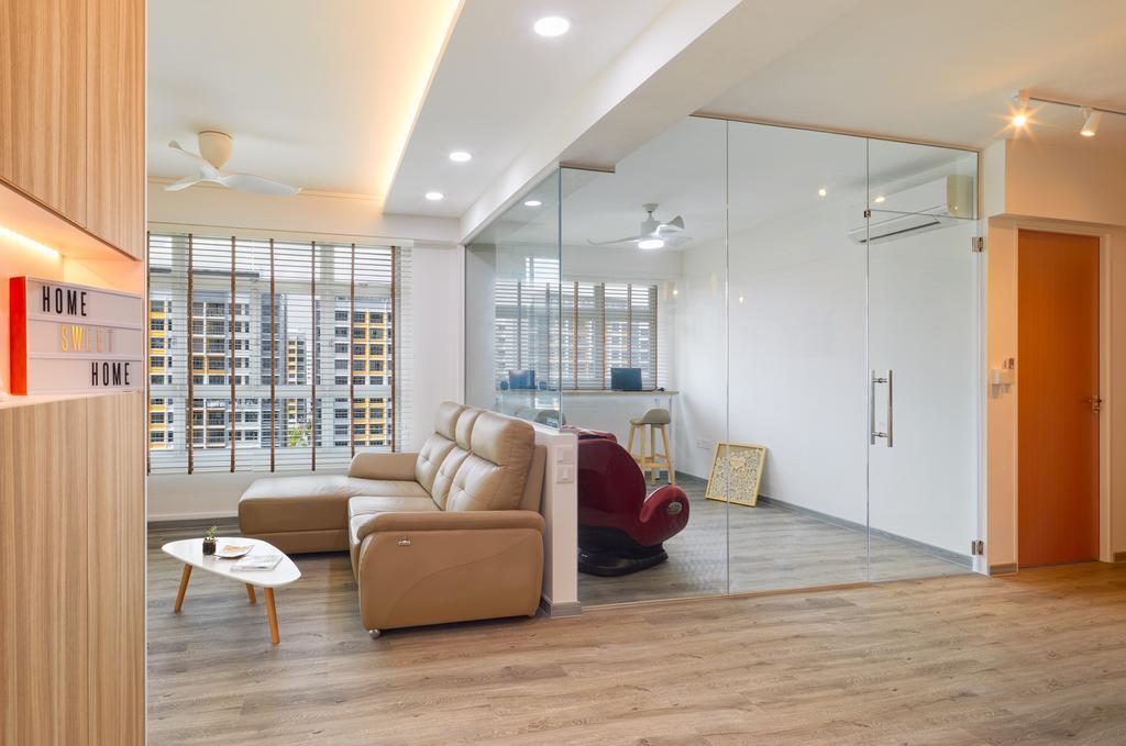 HDB, Living Room, Anchorvale Parkview, Interior Designer, Absolook Interior Design